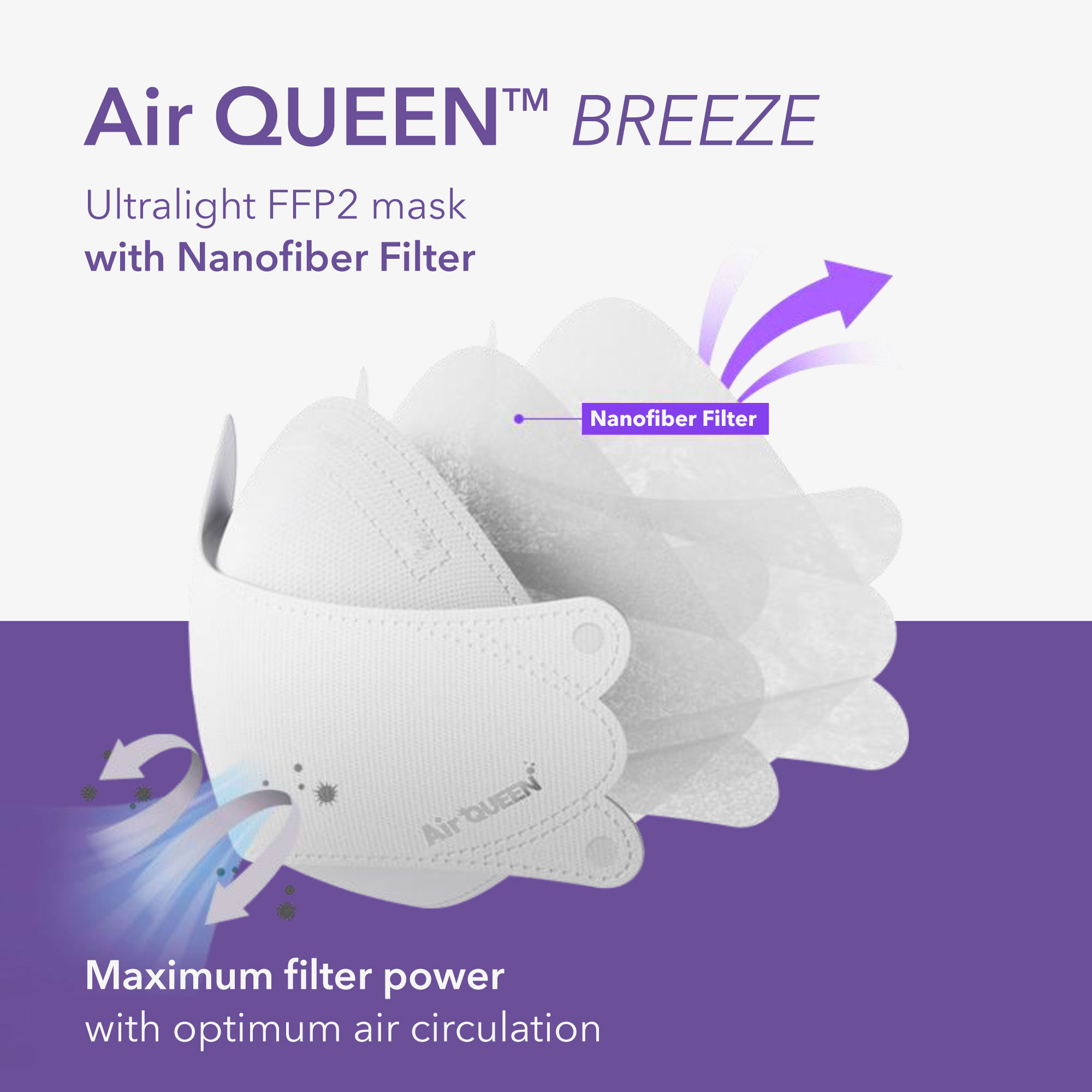 AirQUEEN Breeze FFP2 Mask